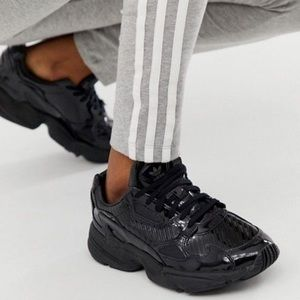 Adidas Falcon W Black Patent Trainer